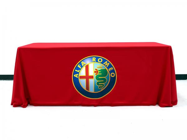 6ft TruColor Twill Table Throw with printed image