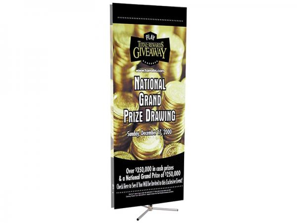 SPRINT Telescopic Banner Stand - Double Sided Shown - Silver