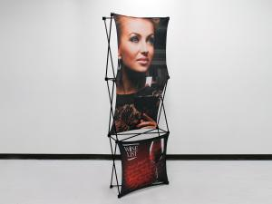 X1 2.5ft - 1x3 D Fabric Pop-Up Display