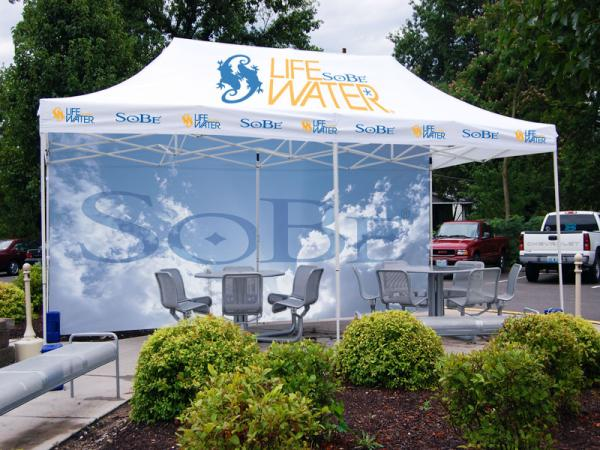 10x20 Event Tent with full dye sub top and dye sub full back sidewall