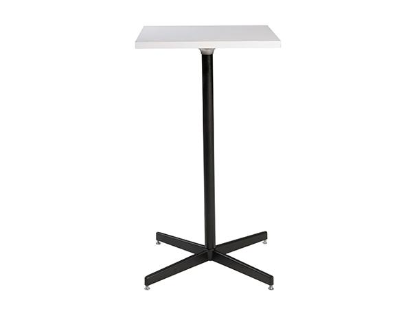 Square White Bar Table -- Trade Show Furniture Rental