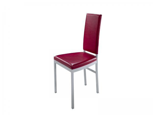 CEGS-014 Red High Back Dining Chair -- Trade Show Rental
