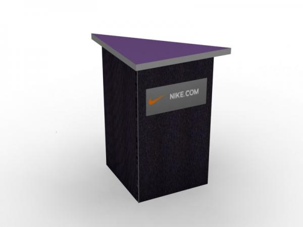 DI-638 Trade Show Pedestal -- Fabric Folding Panel Design -- Partial Graphic