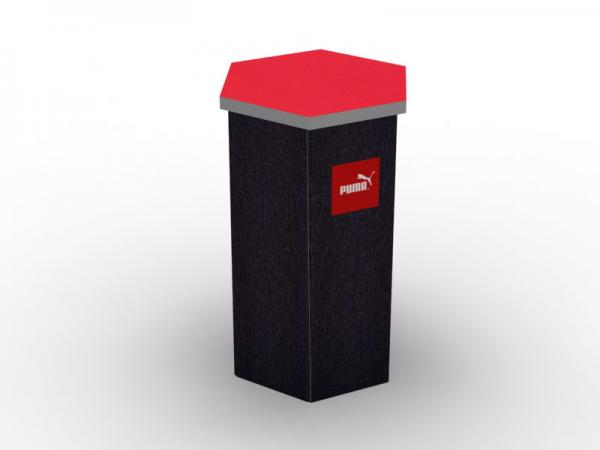DI-646 Trade Show Pedestal -- Fabric Folding Panel Design -- Image 3