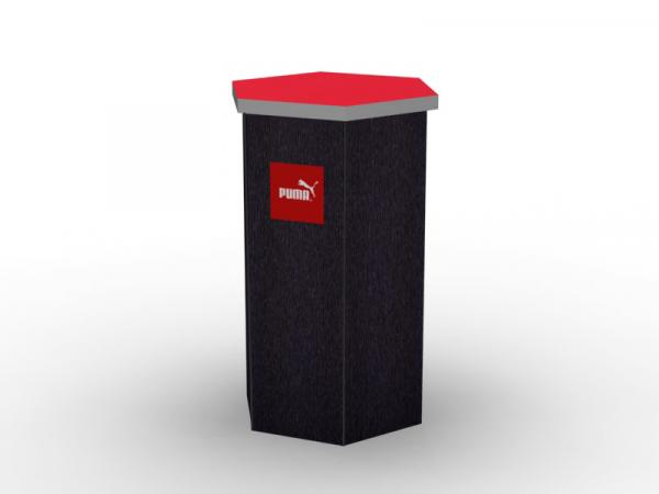 DI-646 Trade Show Pedestal -- Fabric Folding Panel Design -- Image 1