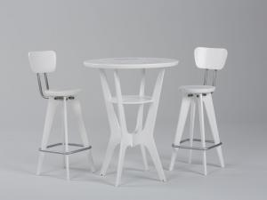 OTM Portable Table and Chairs -- White Version