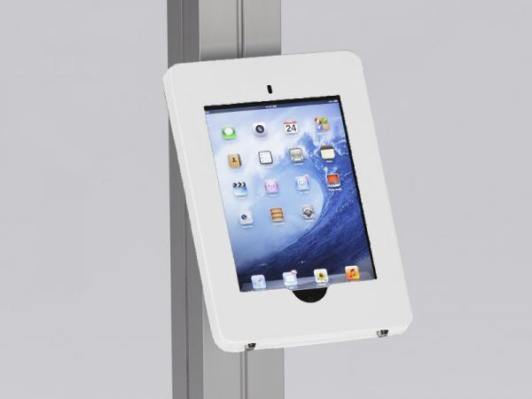 MOD-1316 Locking iPad Clamshell with Extrusion Attachment -- White
