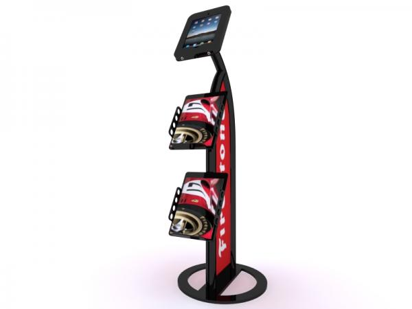 MOD-1357 iPad Kiosk with Literature Holders -- Black
