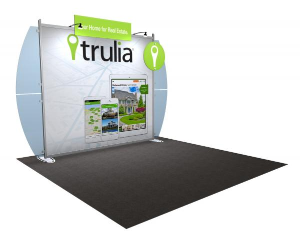 VK-1220 Portable Hybrid Trade Show Exhibit -- Convex Wings