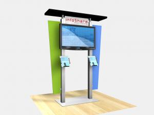RE-1231  /  Large Monitor Kiosk with Flat Canopy