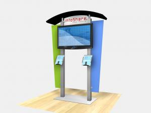 RE-1230  /  Large Monitor Kiosk with Arch Canopy