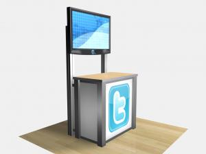 RE-1232  /  Rectangular Counter Kiosk