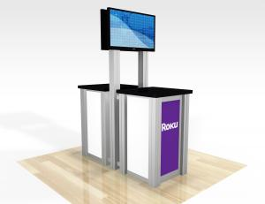 RE-1257  /  Double-Sided Pedestal Kiosk