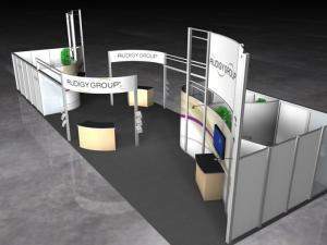 RE-9038 Rental Exhibit / 20� x 60� Island Trade Show Display � Image 1