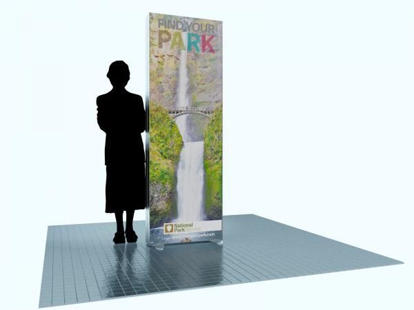 MOD-1601 Trade Show and Event Two-Sided Lightbox Tower -- Image 1
