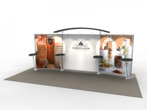 VK-2301 Trade Show Exhibit with Silicone Edge Graphics (SEG) -- Image 1
