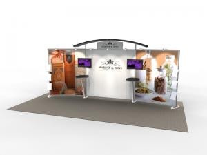 VK-2302 Trade Show Exhibit with Silicone Edge Graphics (SEG) -- Image 1
